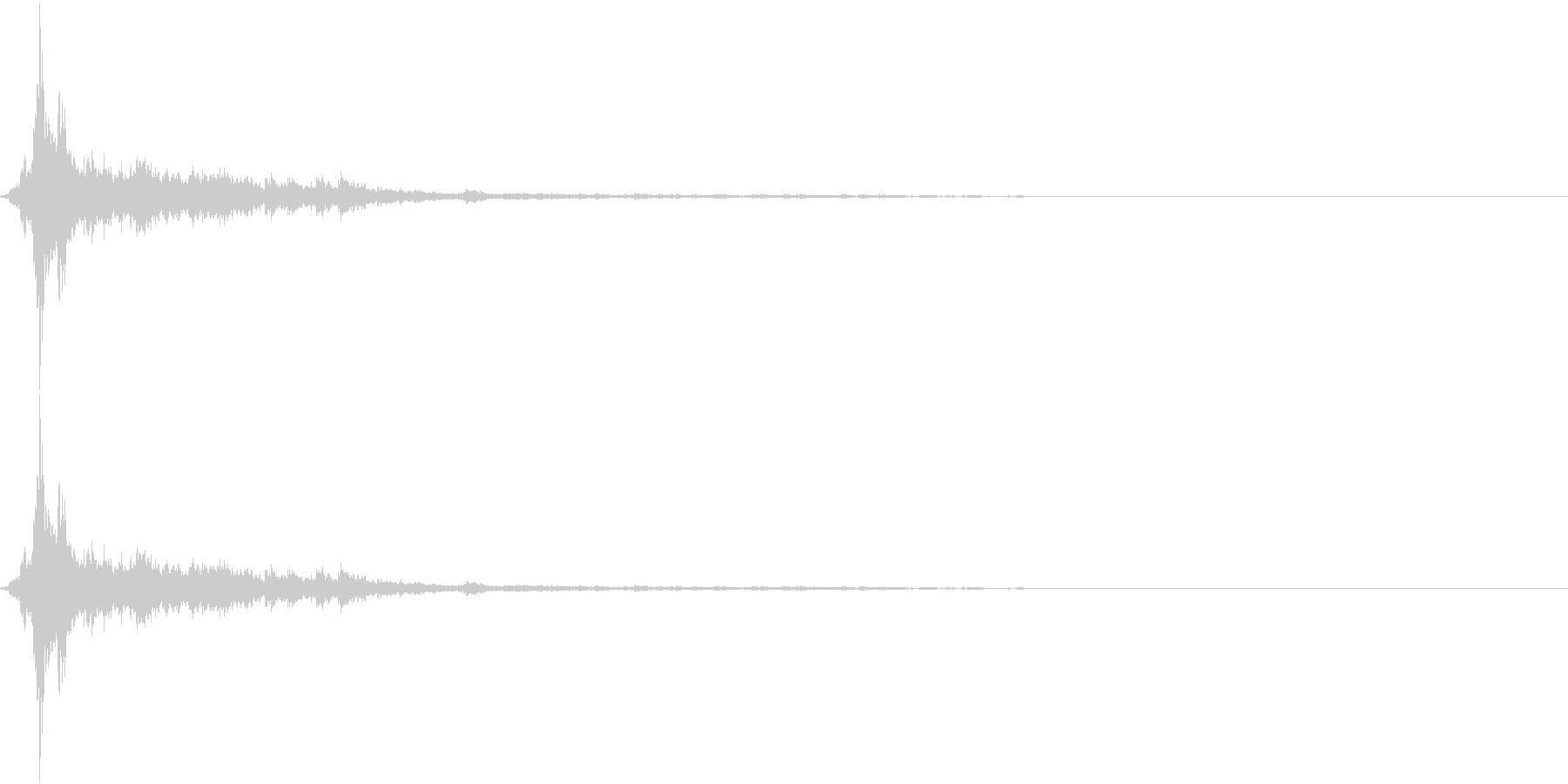 音侍SE「シャン〜〜!」象徴的な鈴の音2の未再生の波形
