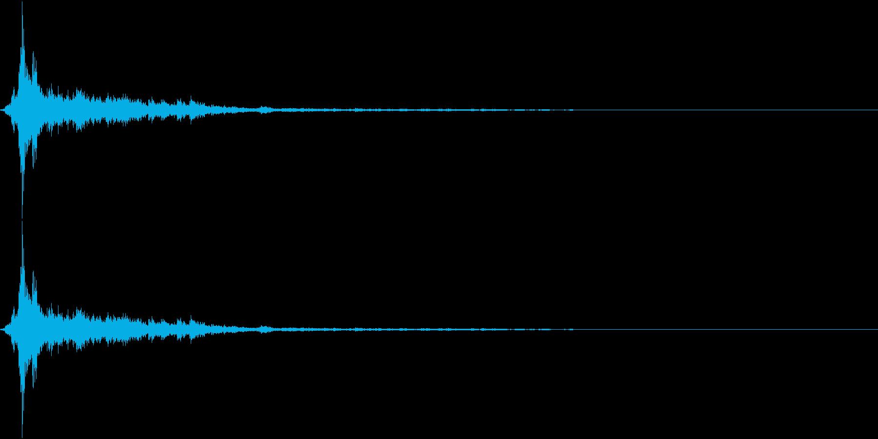 音侍SE「シャン〜〜!」象徴的な鈴の音2の再生済みの波形