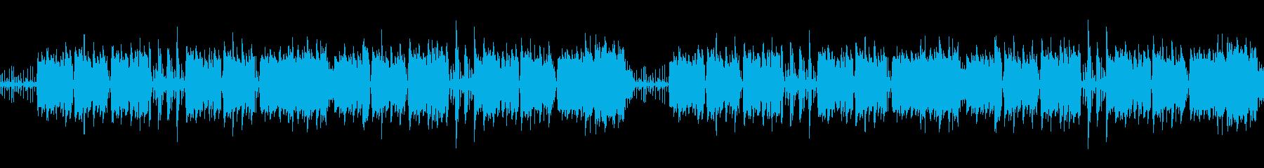 猫などペット動画配信に合うぐうたらBGMの再生済みの波形