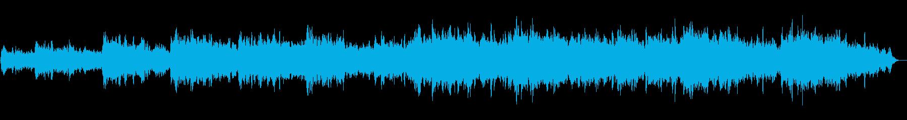 ヒーリング、瞑想、睡眠のための環境音楽の再生済みの波形