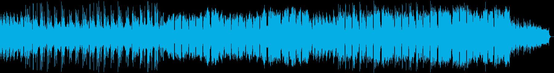 ピアノメインの鳥が空を飛ぶイメージの楽曲の再生済みの波形