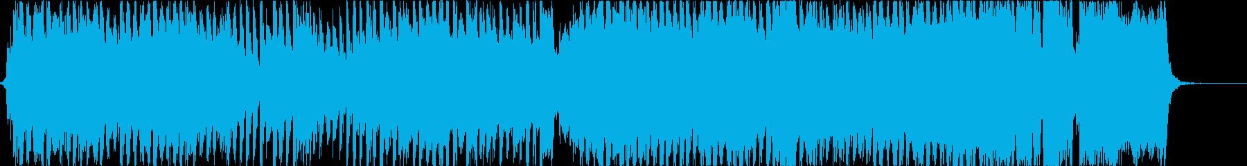 ストリングスメロディの爽やかなEDMの再生済みの波形