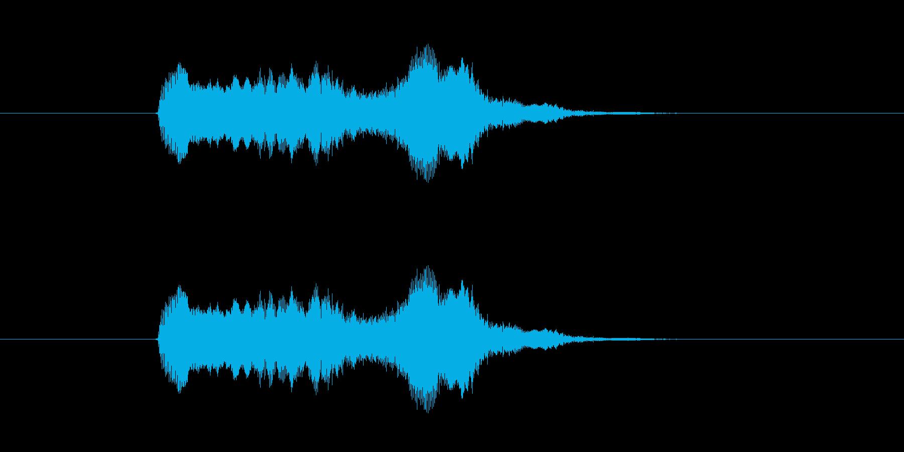 オーイェイ!という掛け声系効果音の再生済みの波形