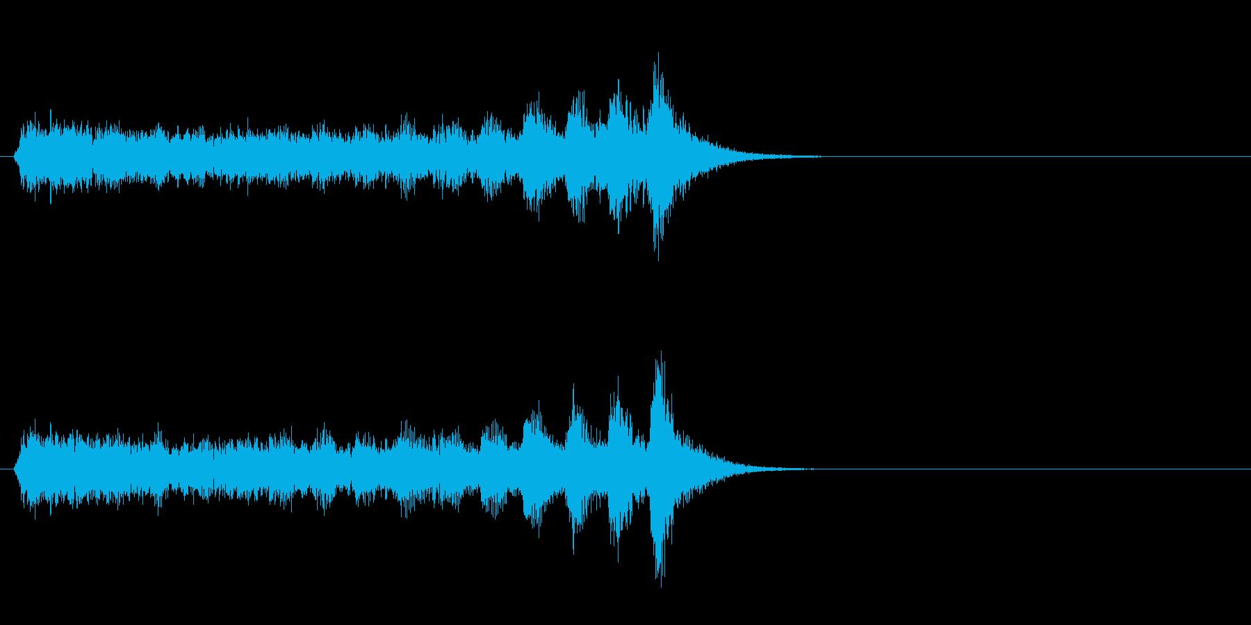 ジングル(ミステリー風)の再生済みの波形