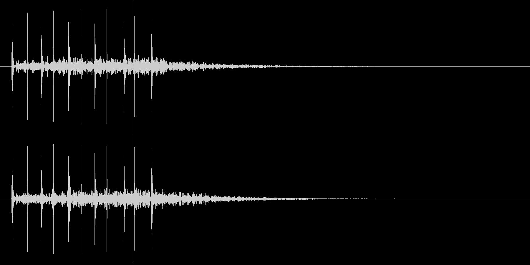 「トンテン・・」連打した石と石+リバーブの未再生の波形