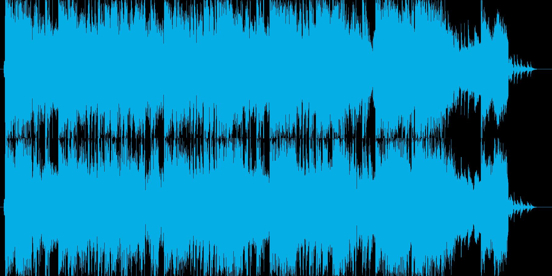 緊張感のあるギターメインの打ち込み曲ですの再生済みの波形