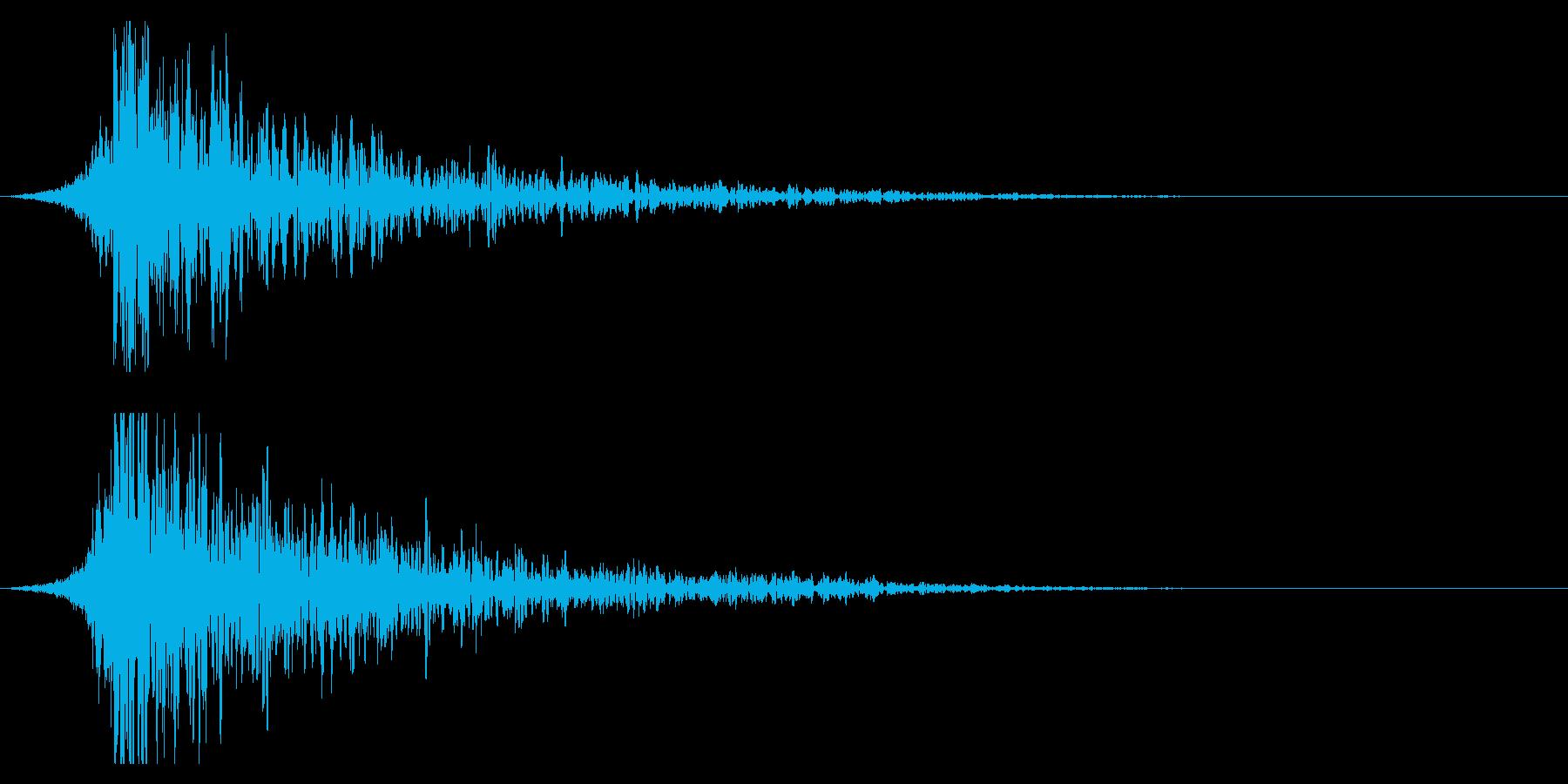 シュードーン-22-2(インパクト音)の再生済みの波形