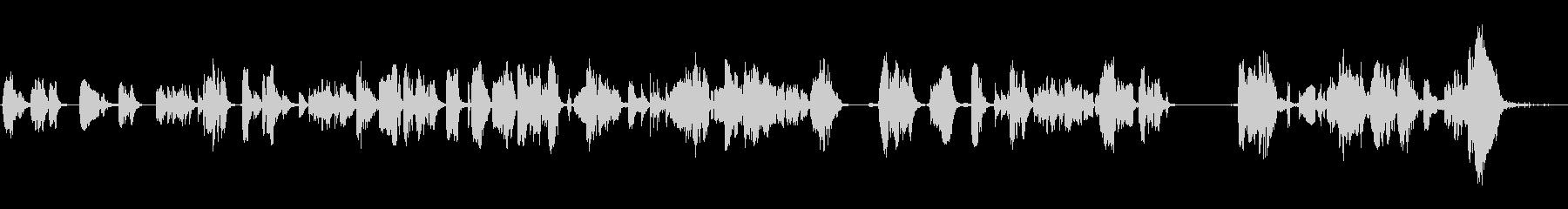 重いオーディオアークとスパークの未再生の波形