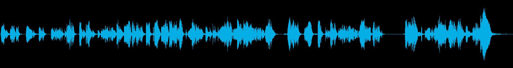 重いオーディオアークとスパークの再生済みの波形