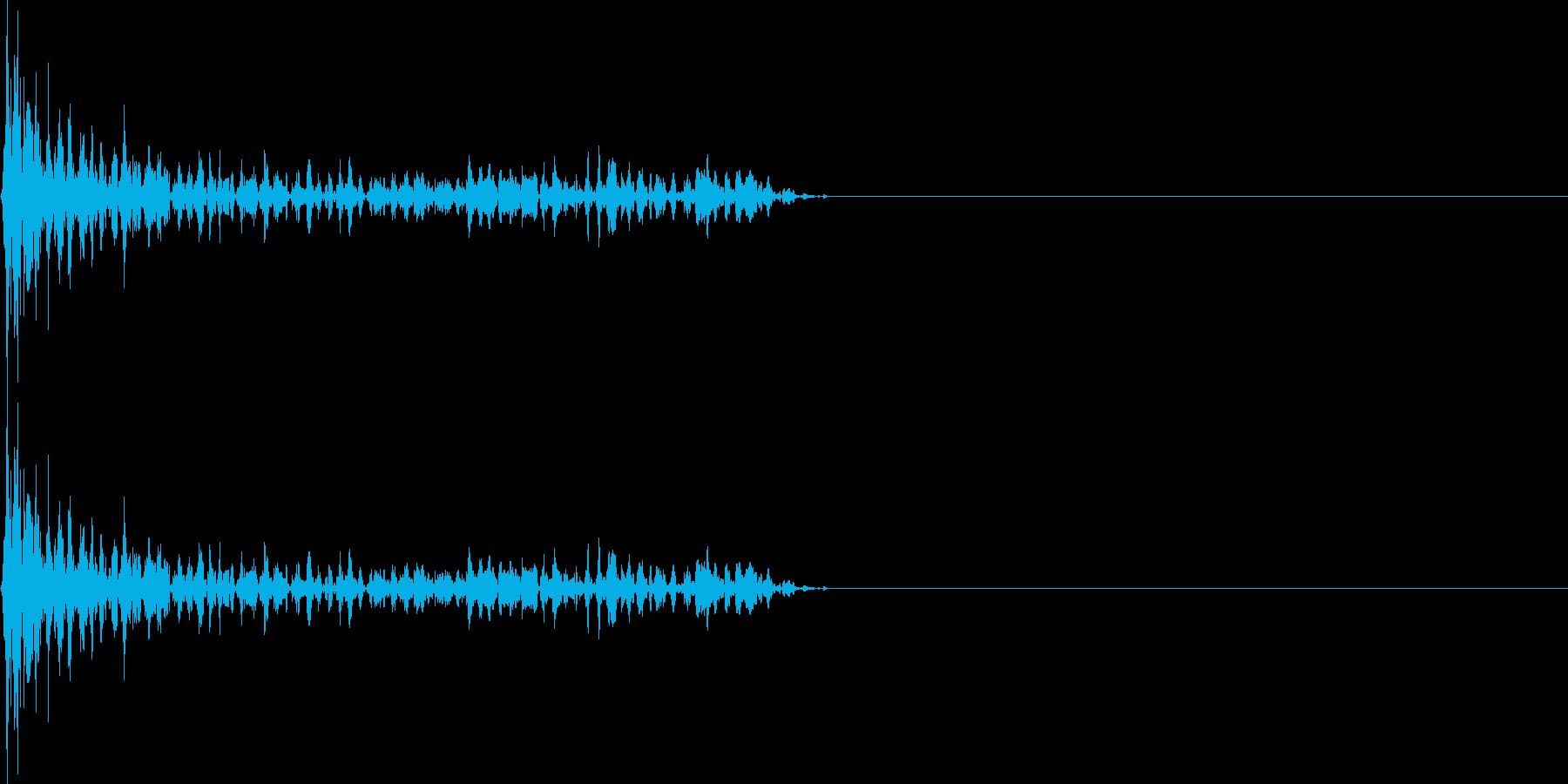 ジュワーン(マイナスイメージ_ミス)の再生済みの波形