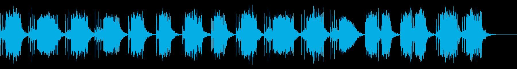 寂しい笛のソロの再生済みの波形