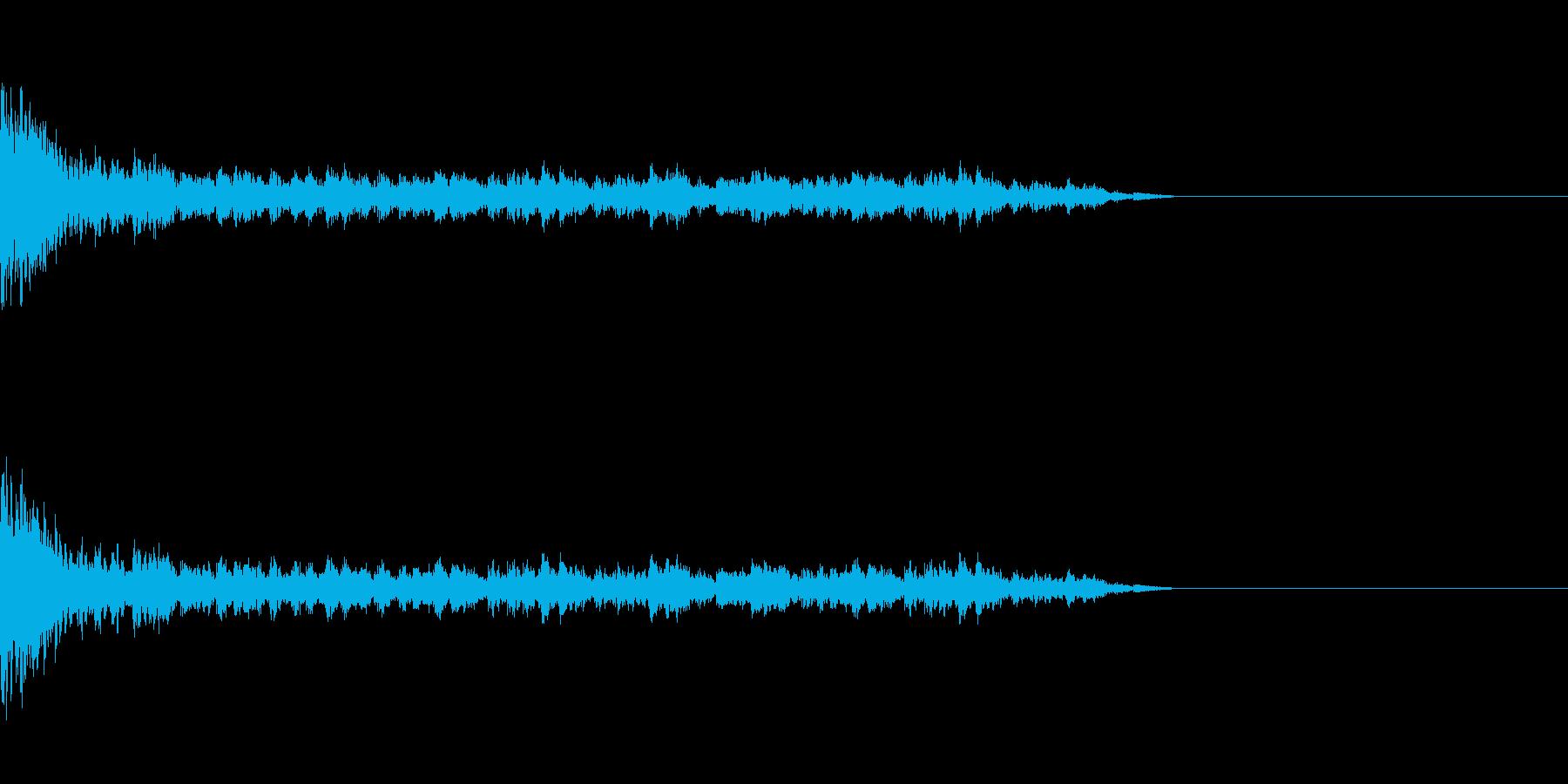 結果発表_ドラムロールの再生済みの波形