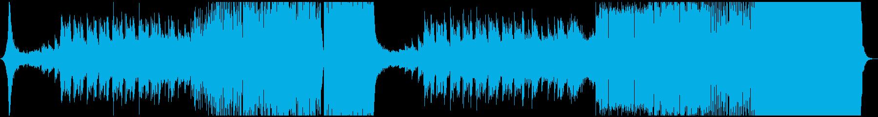 力強いシンセが特徴のダブステップEDMの再生済みの波形