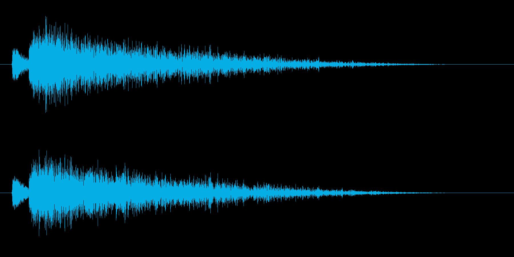 【雷 合成01-4】の再生済みの波形
