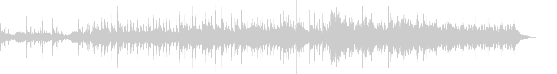 切ない感情を描写するピアノの未再生の波形