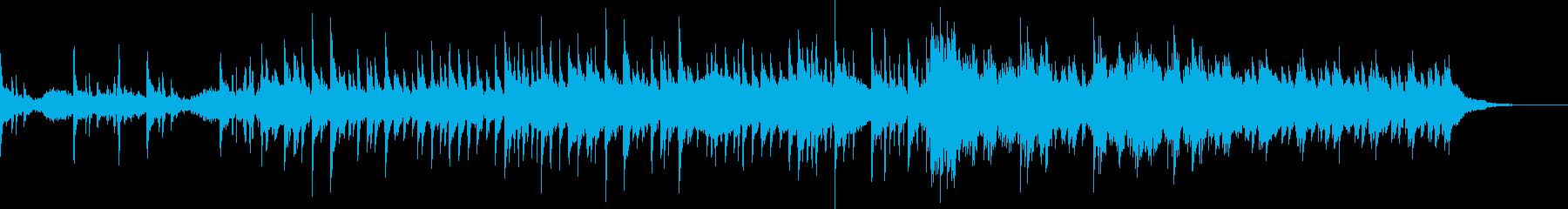 切ない感情を描写するピアノの再生済みの波形