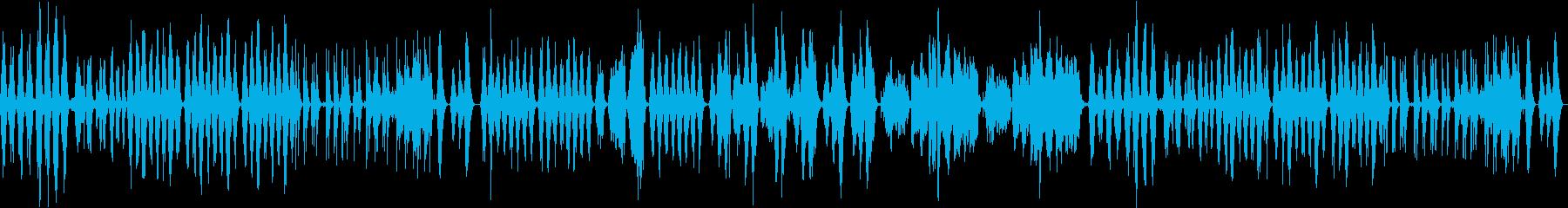 幻想的なアンビエントミュージックの再生済みの波形