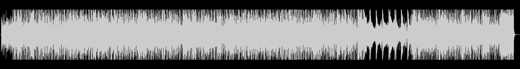 軽やかなリズムが特徴のハッピーな楽曲の未再生の波形