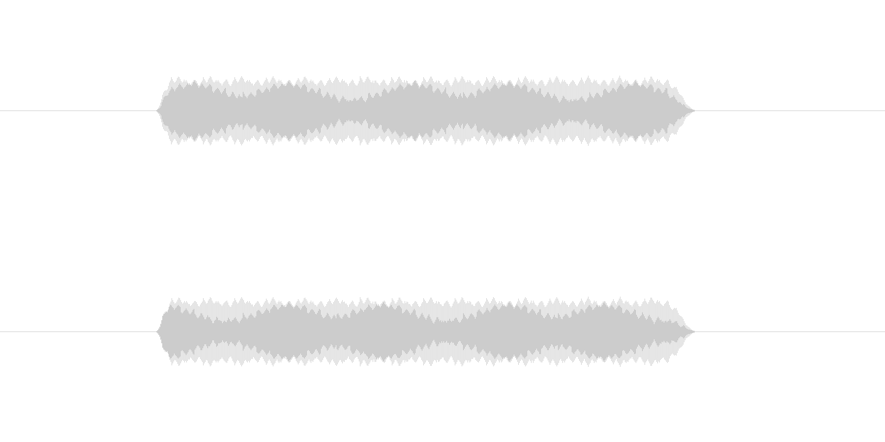 【汎用・セリフ音等】ピッ(さらに高)の未再生の波形