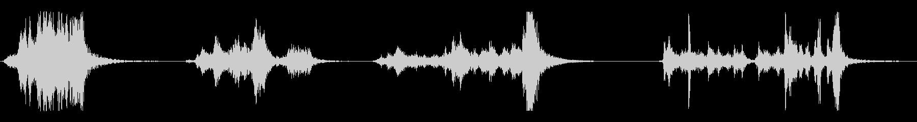 重い板金上のいくつかの長い金切り声の未再生の波形