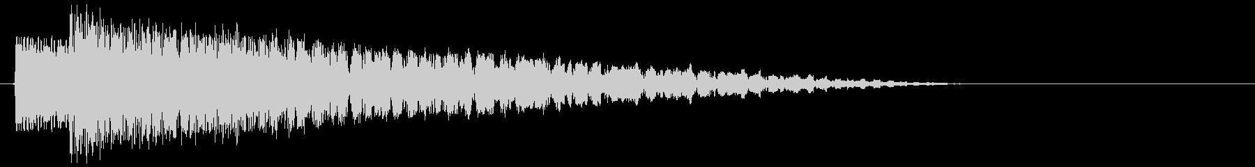 レトロなUFO ピロピロ音の未再生の波形