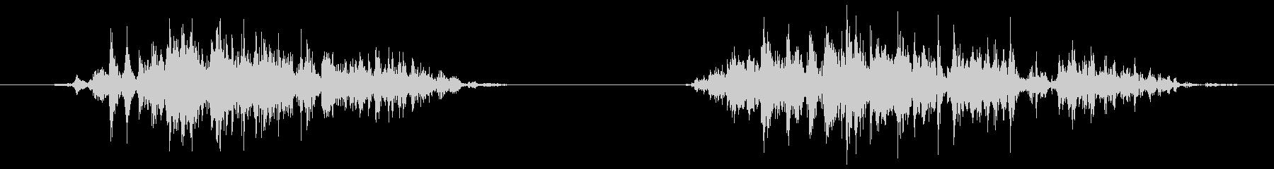 ストロー 吸う(ズッ、ズスッ)の未再生の波形
