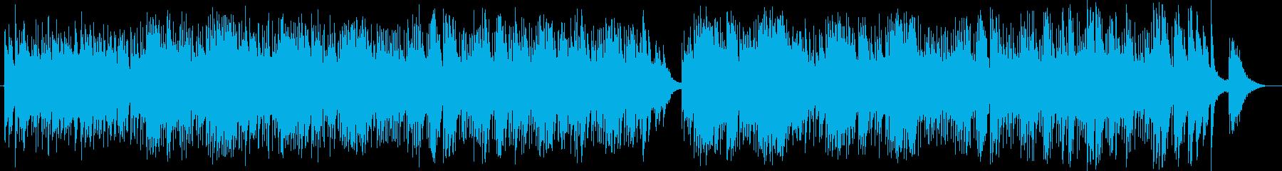 南国風のゆったりとしたミュージックの再生済みの波形