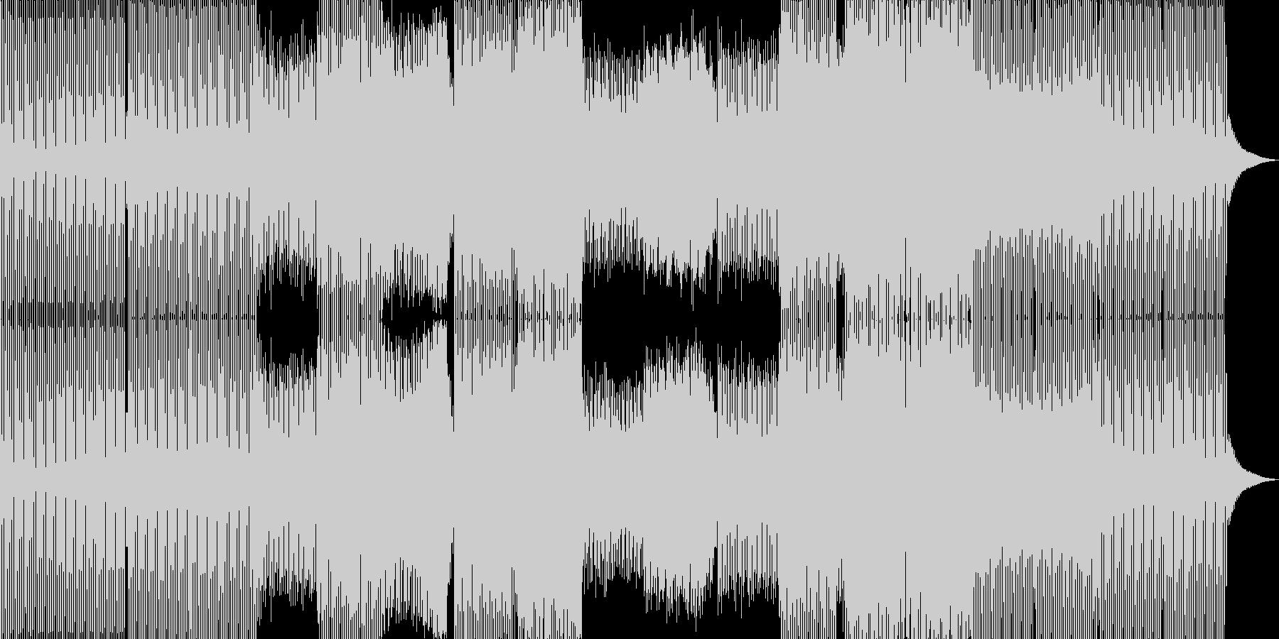 エレクトロハウス。電子音。群衆、拍手。の未再生の波形