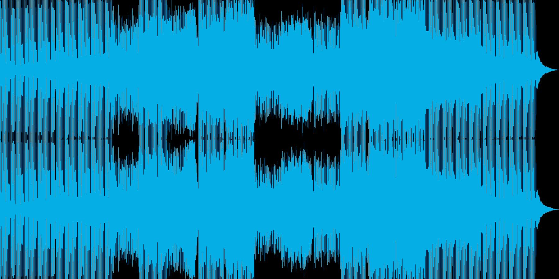 エレクトロハウス。電子音。群衆、拍手。の再生済みの波形