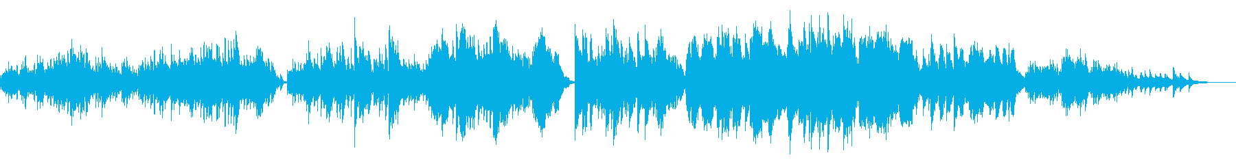 ピアノと弦楽の美しいアンサンブルの再生済みの波形