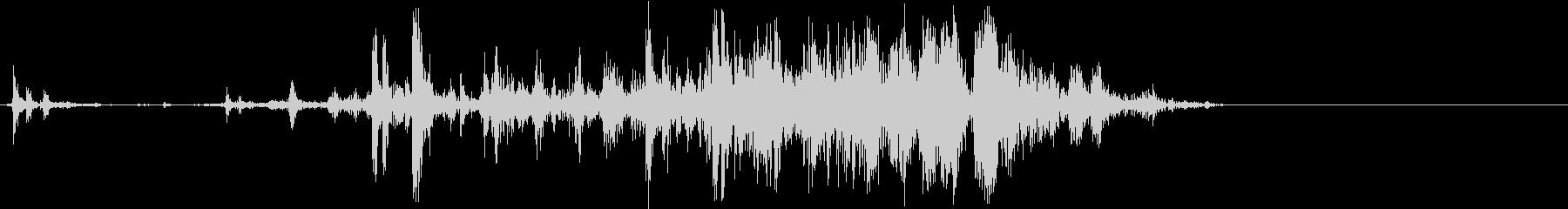 サクッ(一口かじる音)の未再生の波形