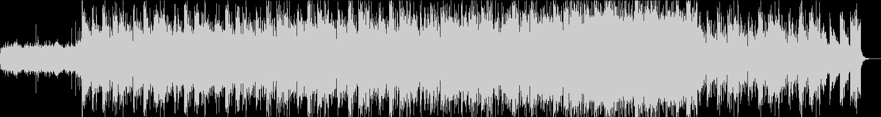 エンディング系のエレクトロニクスな曲の未再生の波形