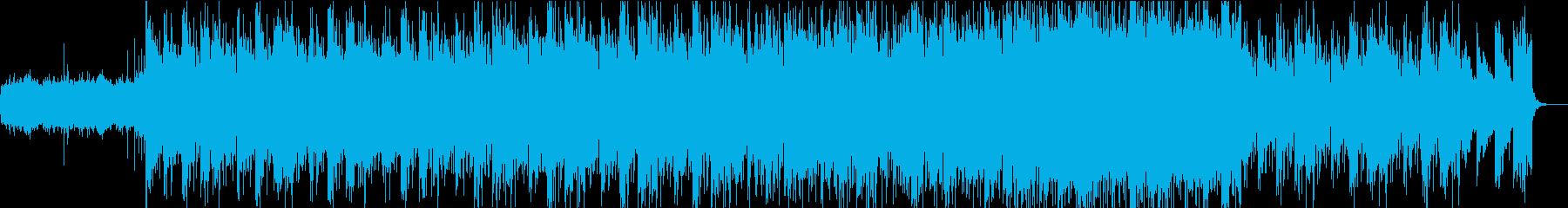 エンディング系のエレクトロニクスな曲の再生済みの波形