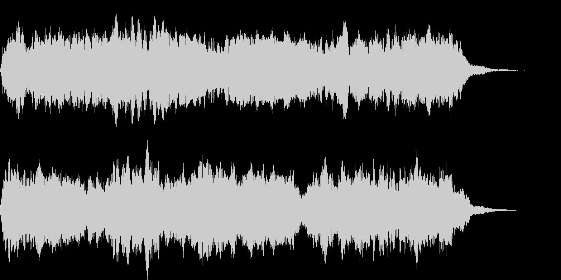 アンビエント オープニング 空間 音の未再生の波形