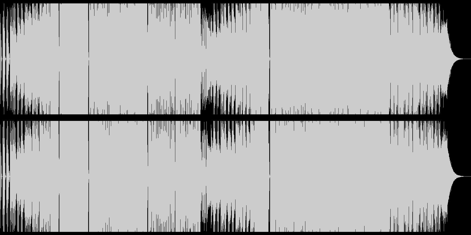 激しいシンセのテクノポップの未再生の波形