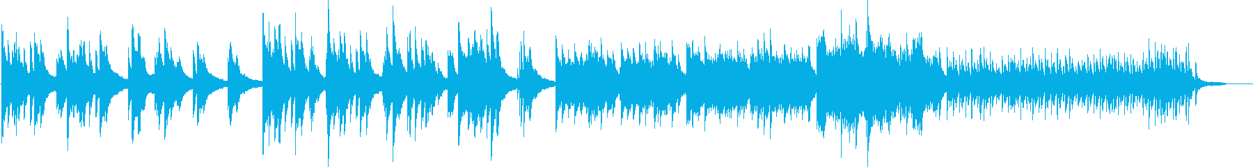 ピアノの優しい曲05の再生済みの波形