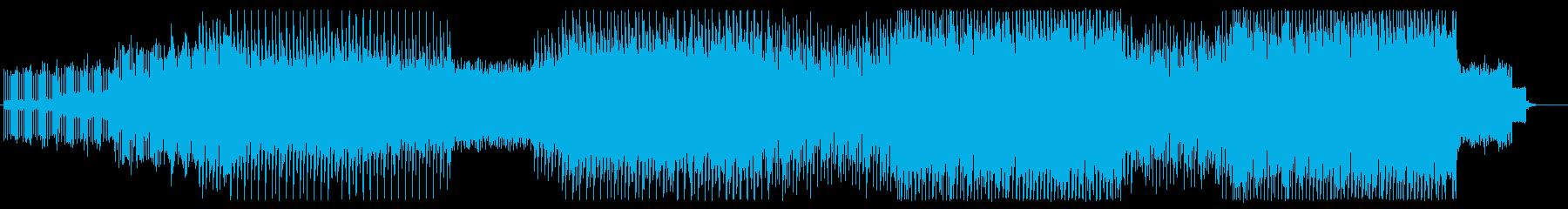 サイバー感溢れる電子音楽の再生済みの波形