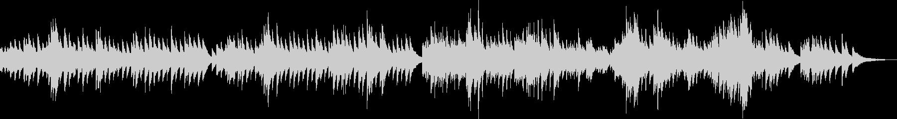 切なくて感動する優しいピアノBGMの未再生の波形