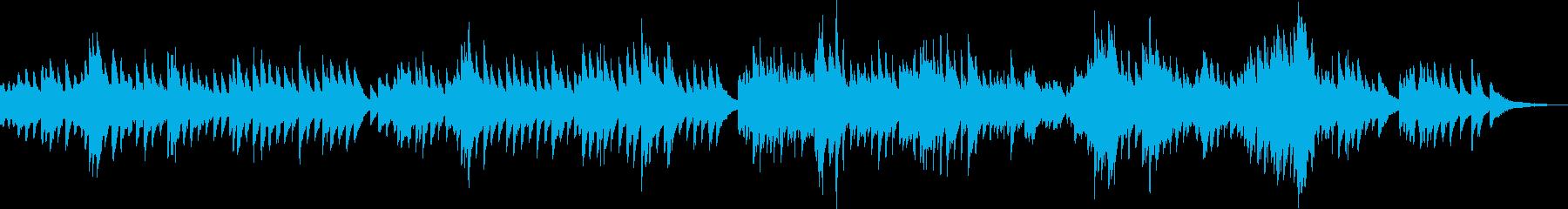 切なくて感動する優しいピアノBGMの再生済みの波形