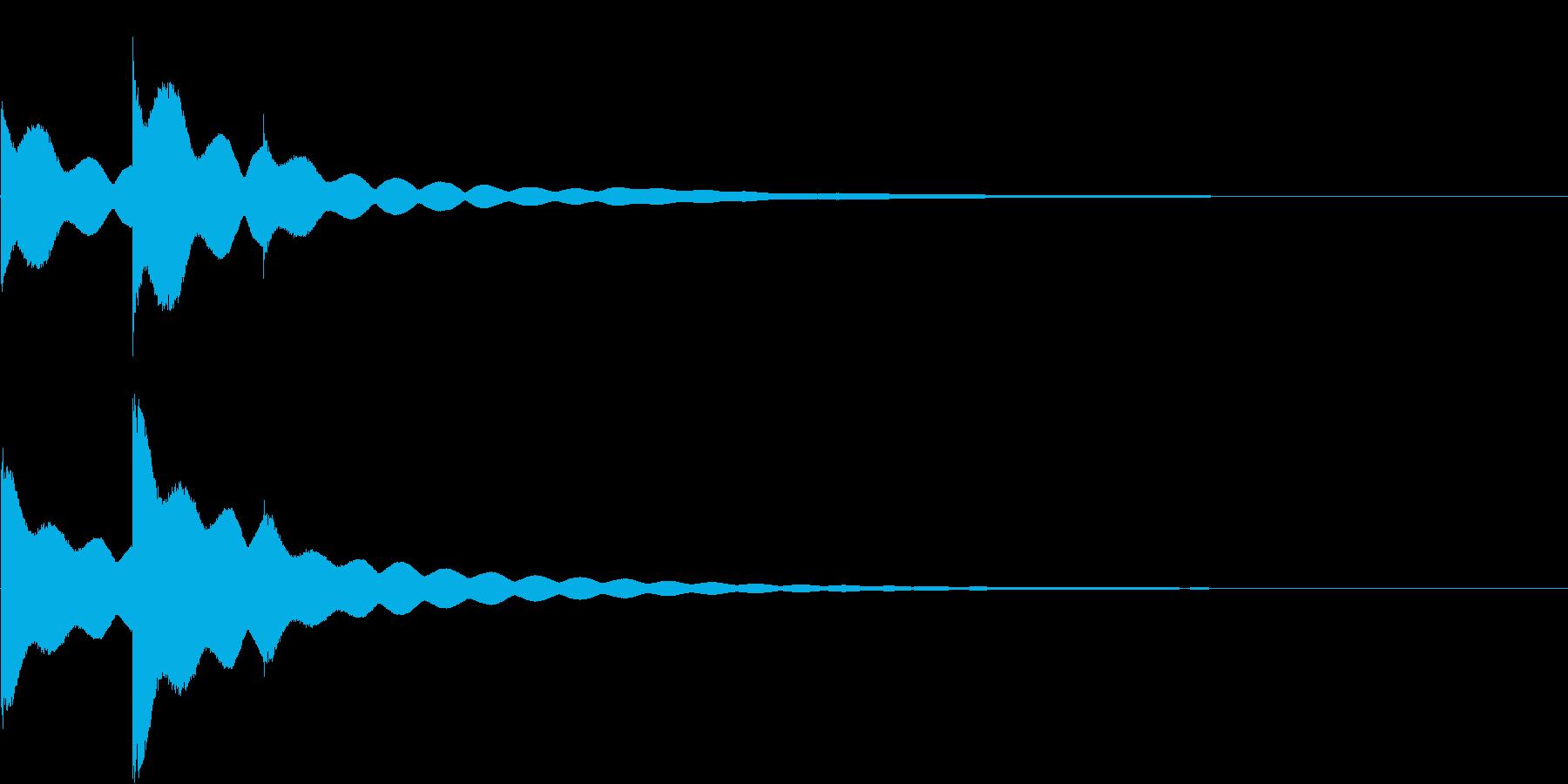 チーンチーン 仏壇の鐘の音6の再生済みの波形