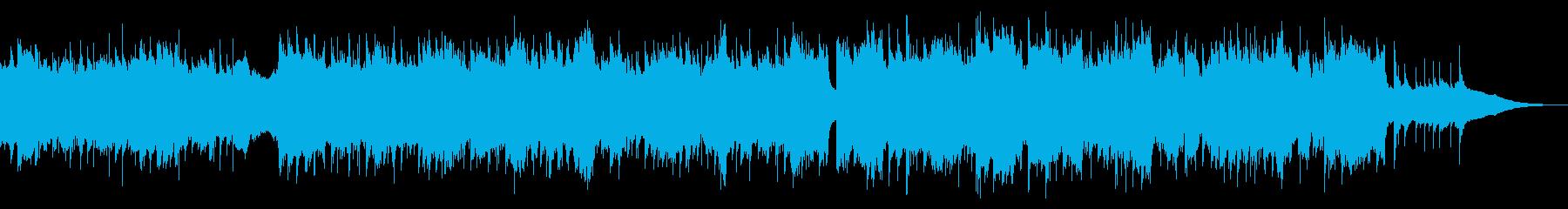 爽やかさを演出する軽快な4つ打ちBGMの再生済みの波形