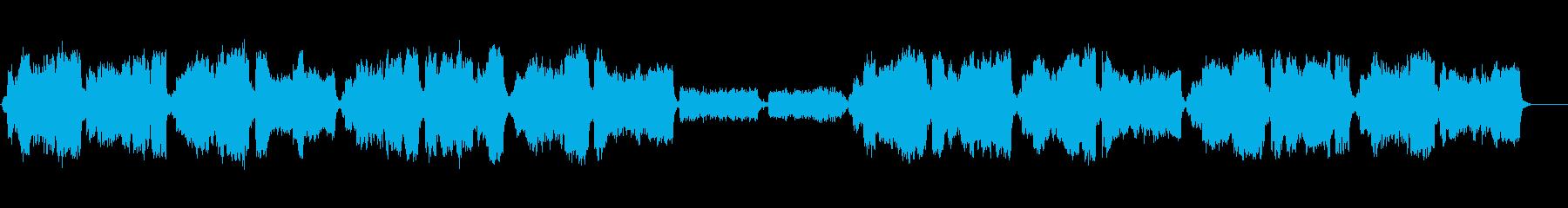 生演奏リコーダーとオーケストラ雄大な音楽の再生済みの波形