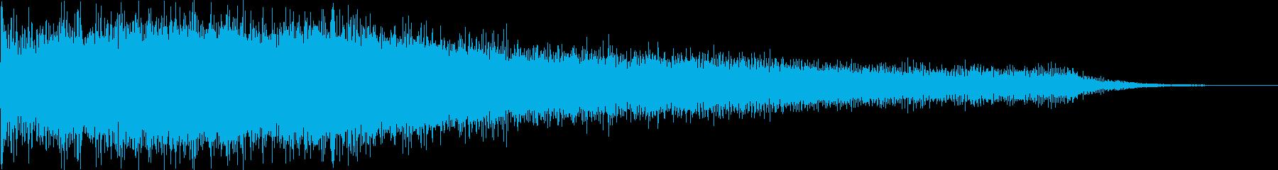 カジノスロット定番トップシンボル音7の再生済みの波形