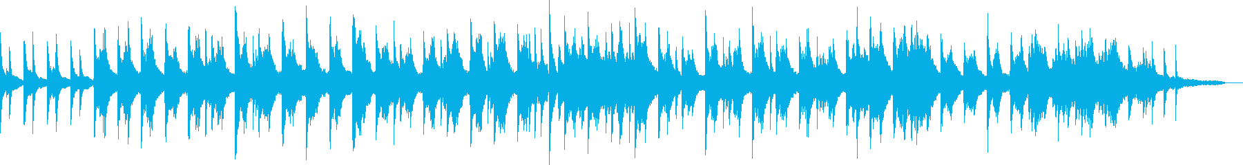 The height of humidity of piano solo and rainy day's reproduced waveform