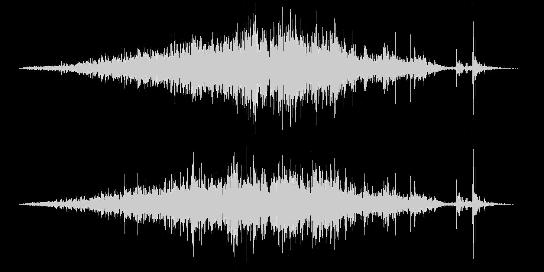 メジャー巻尺(コンベックス)シャーッカッの未再生の波形