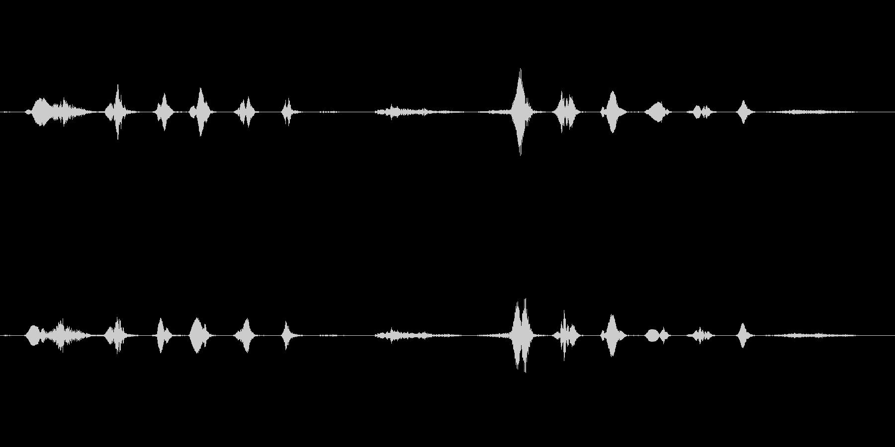 ドゥフッフッフッフ・・フヒッヒッヒ・・・の未再生の波形