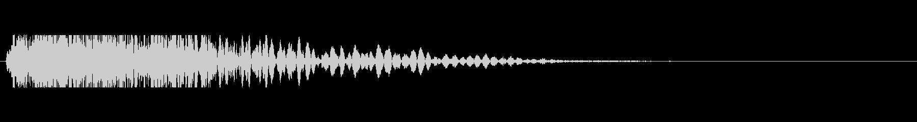 大きなシングルショットの未再生の波形