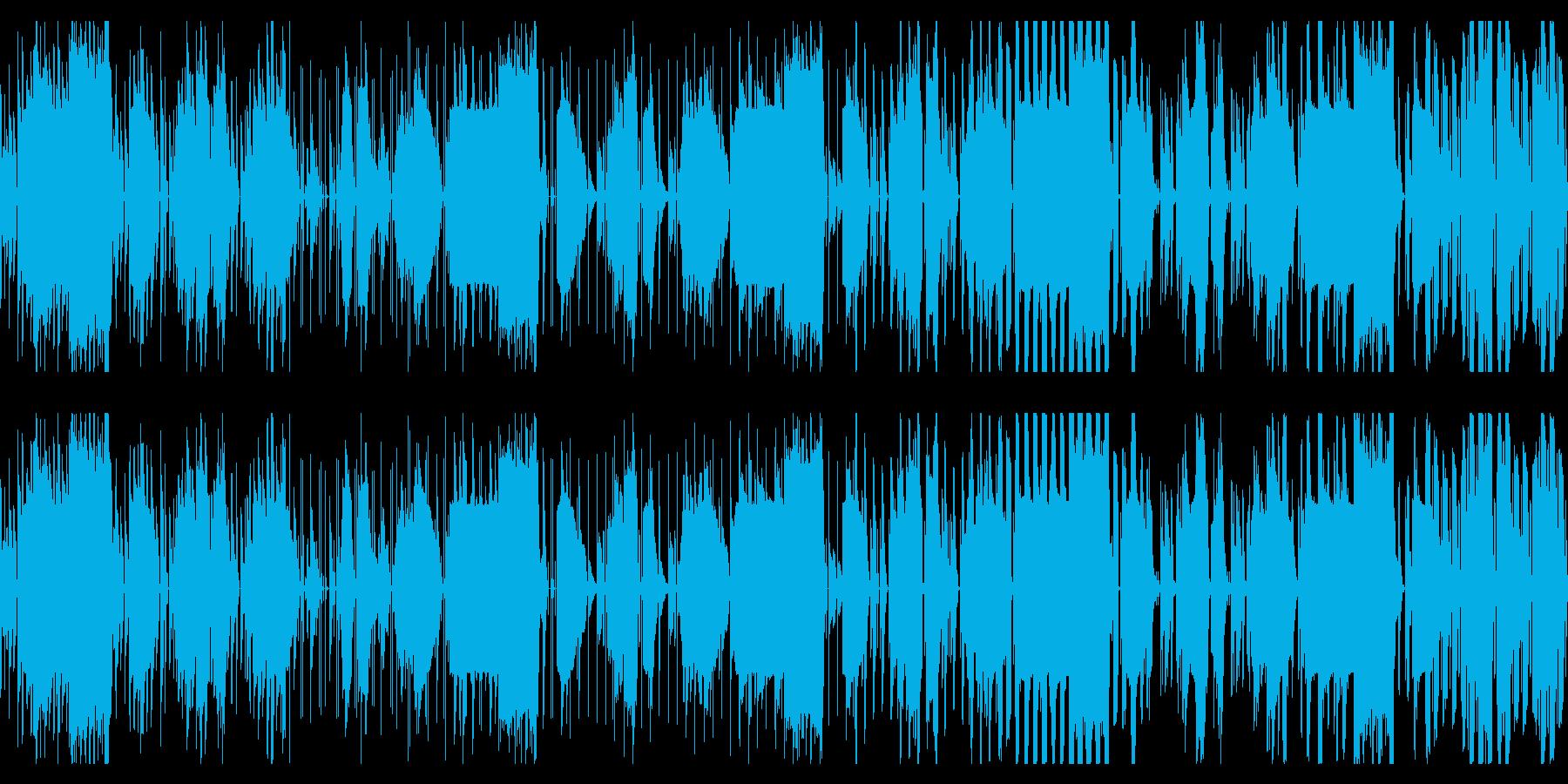 短めのチップチューンのビートの再生済みの波形