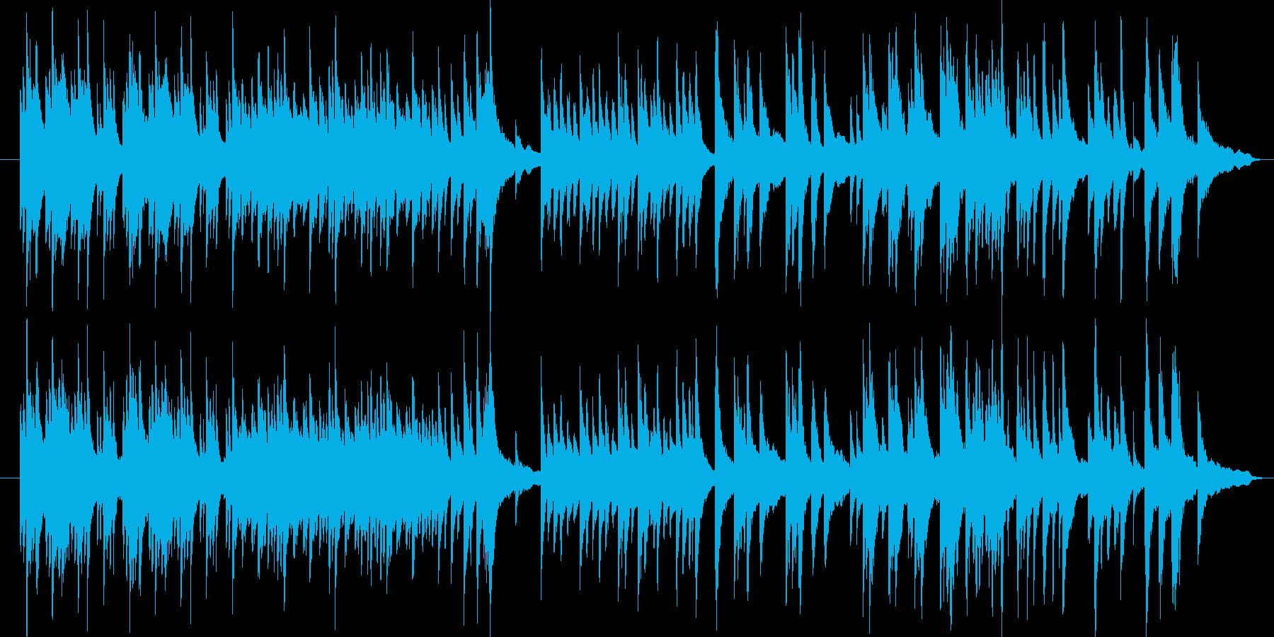 ピアノBGM展開が豊富で動画やナレにの再生済みの波形