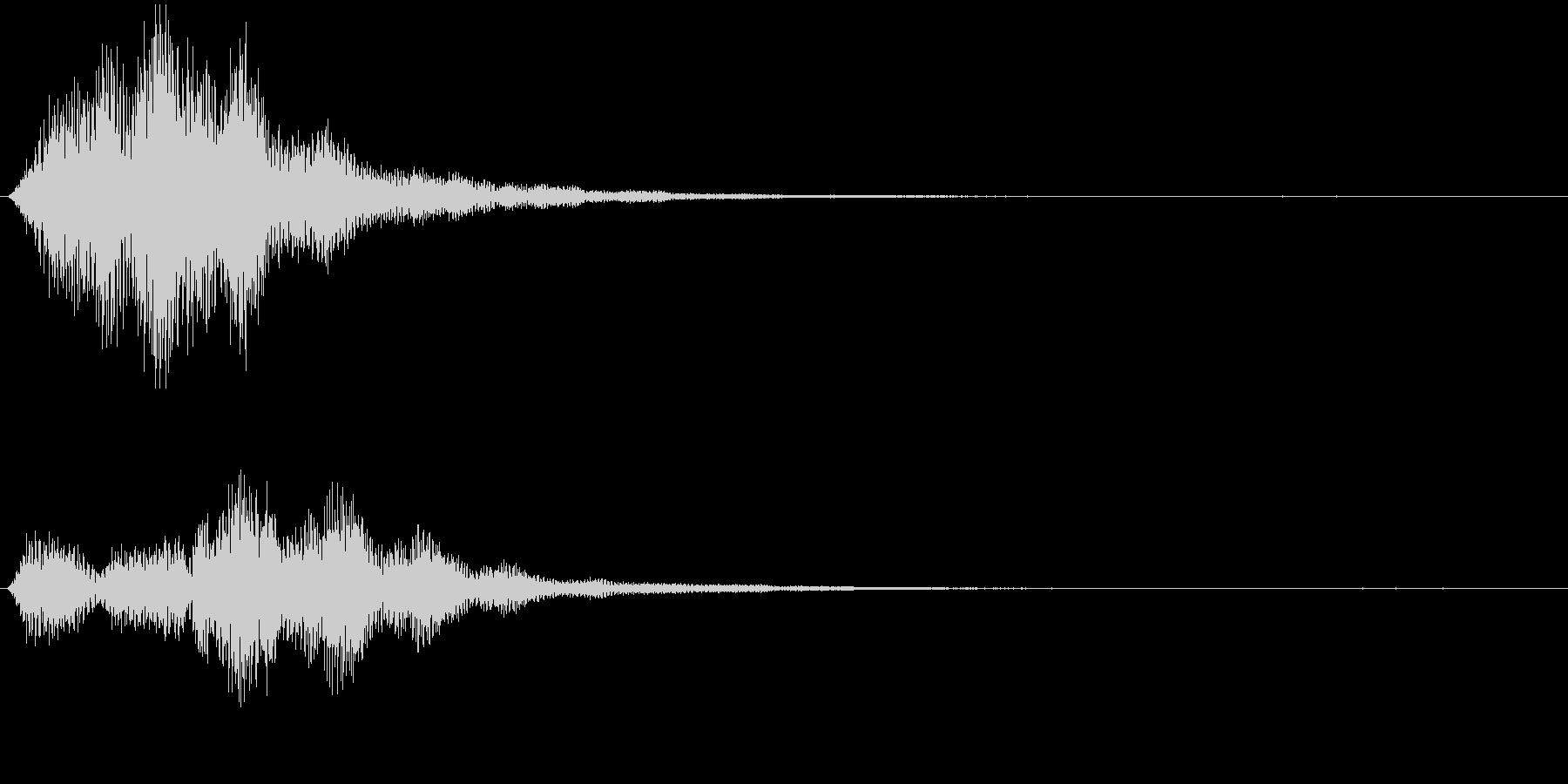 ファーーーン、ポワーーーン、やわらかい音の未再生の波形